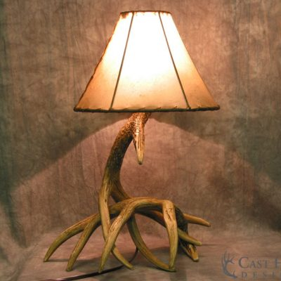 Whitetail Deer 2 Antler Table Lamp