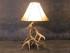 Whitetail Deer 3 Antler Table Lamp