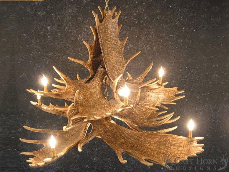 Moose 10 antler chandelier cast horn designs moose 10 antler chandelier mozeypictures Choice Image