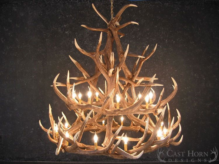 Elk 18 antler chandelier cast horn designs elk 18 antler chandelier aloadofball Images