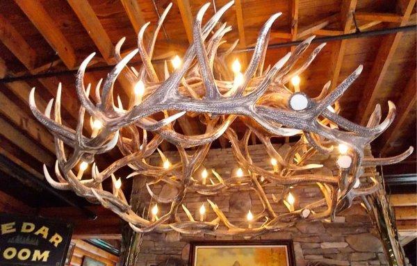 Elk 18 Antler Chandelier