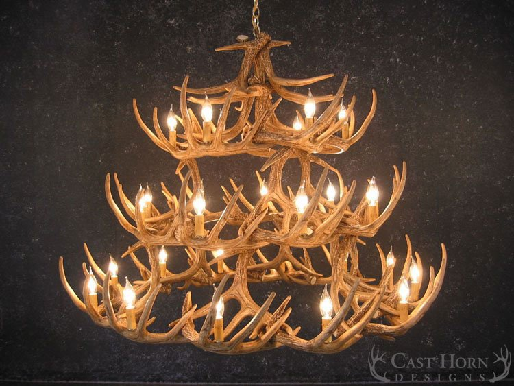 Whitetail deer 42 antler chandelier cast horn designs mozeypictures Gallery