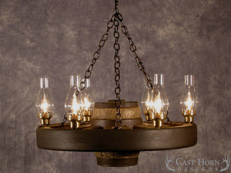 Small Wagon Wheel Chandelier; Small Wagon Wheel Chandelier ...