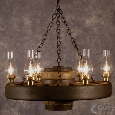 Small Wagon Wheel Chandelier