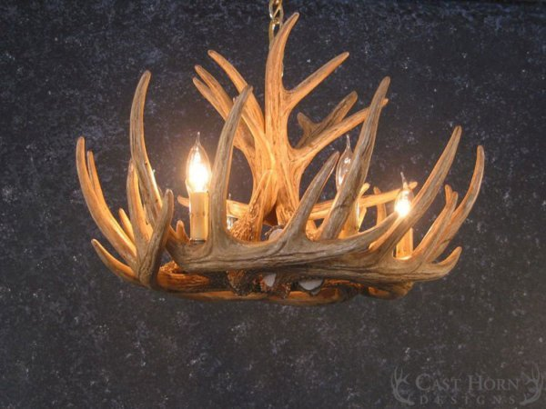 Whitetail deer 9 antler chandelier cast horn designs whitetail deer 9 antler cascade chandelier aloadofball Choice Image