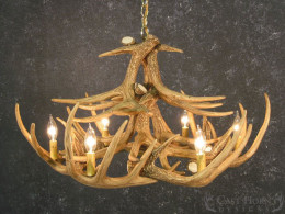 Whitetail Deer 12 Antler Chandelier