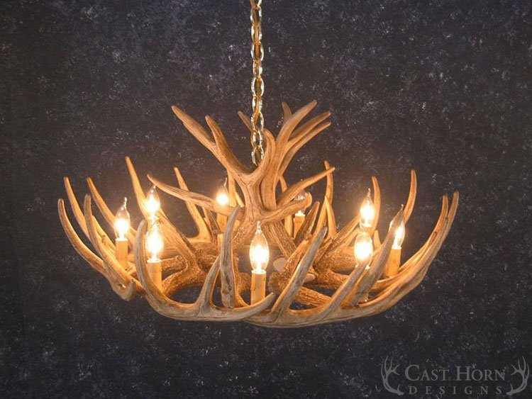 Whitetail Deer 12 Antler Cascade Chandelier Casthorn Designs