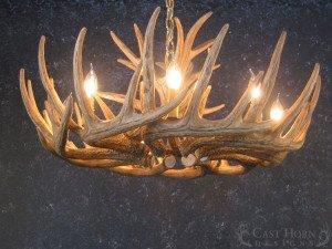 Whitetail Deer 21 Antler Cascade Chandelier