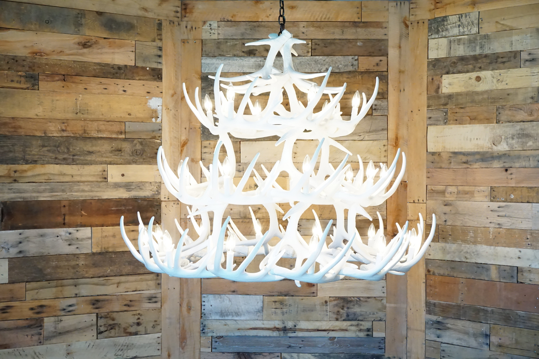 Whitetail deer 42 antler chandelier cast horn designs whitetail deer 42 antler chandelier whitetail deer 42 antler chandelier arubaitofo Image collections
