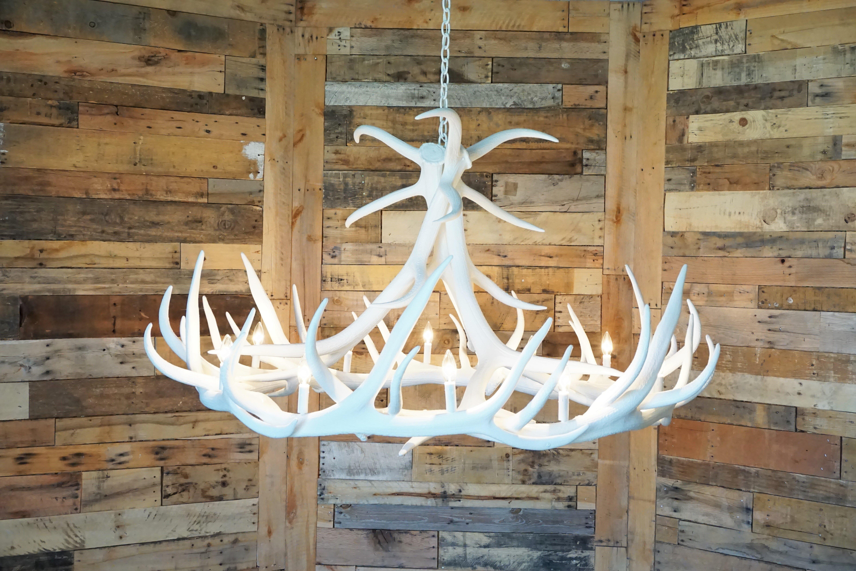 Elk 9 Antler Chandelier Cast Horn Designs
