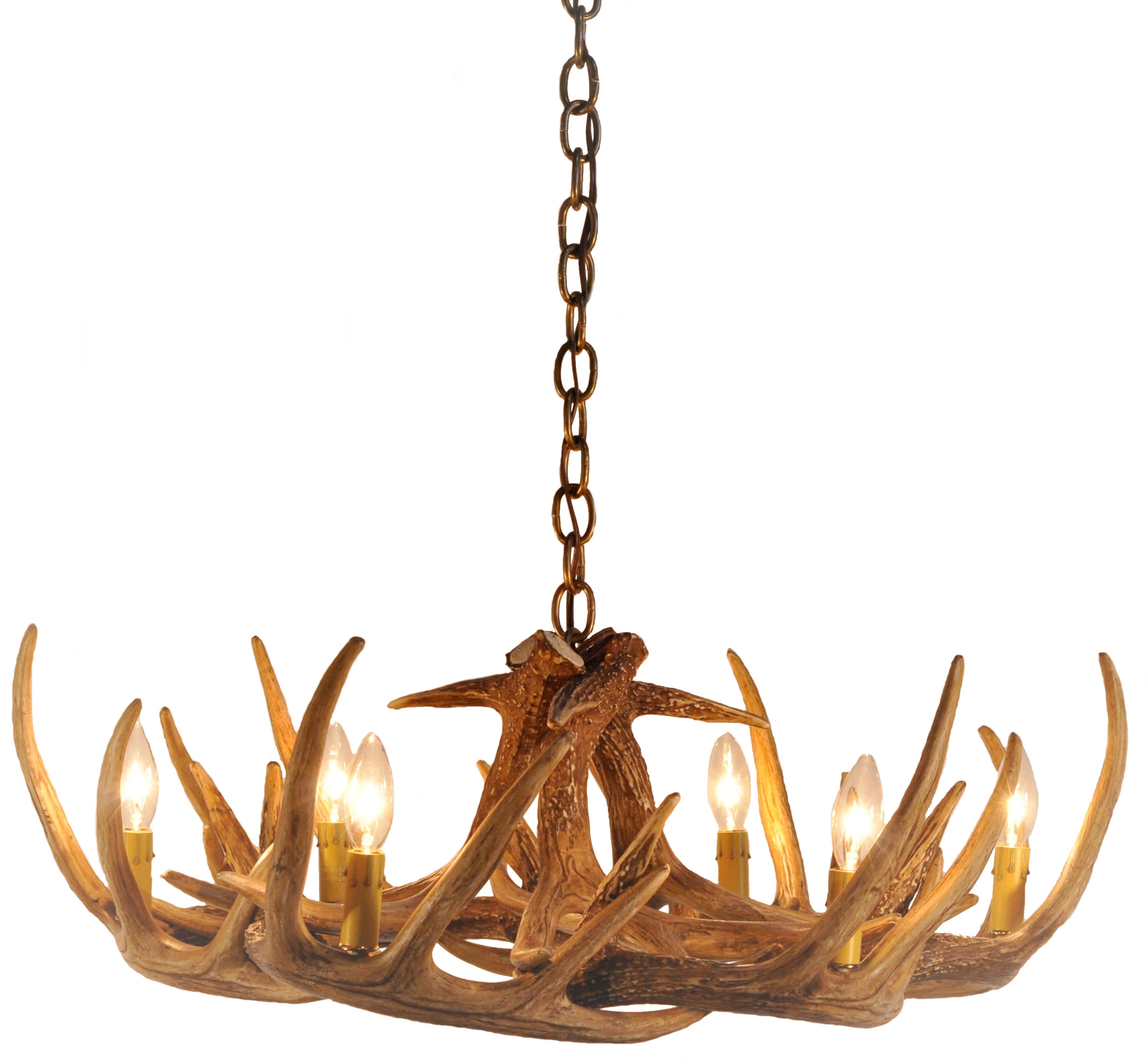 Whitetail Deer 9 Antler Chandelier Cast Horn Designs
