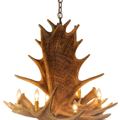 Moose 4 Antler Chandelier