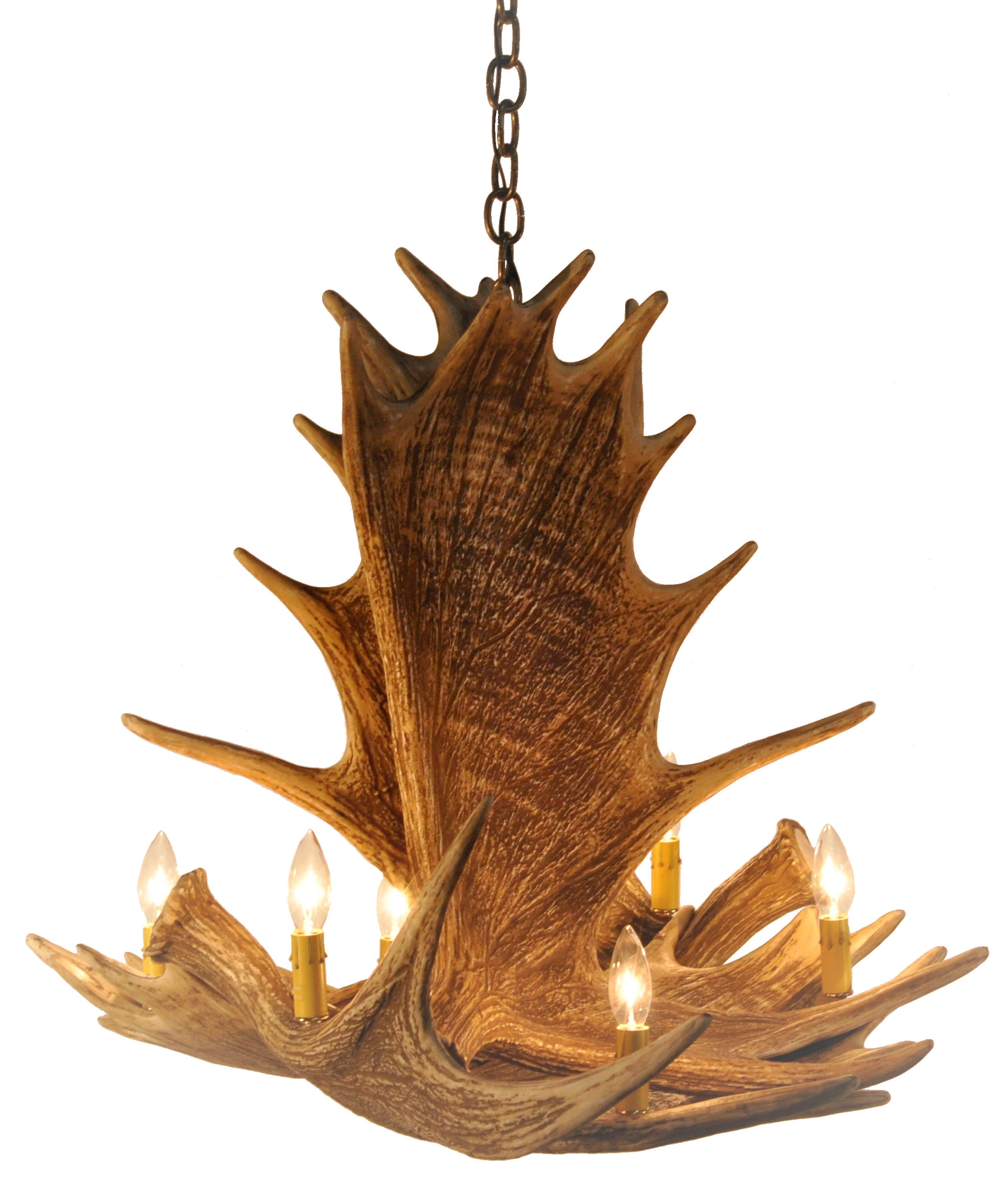 Moose 4 antler chandelier cast horn designs arubaitofo Images