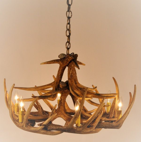 Whitetail Deer 12 Antler Chandelier Cast Horn Designs
