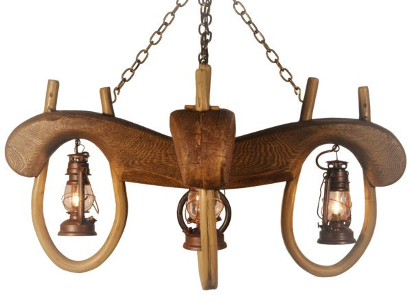 Reproduction Double Ox Yoke 4 Lantern Light