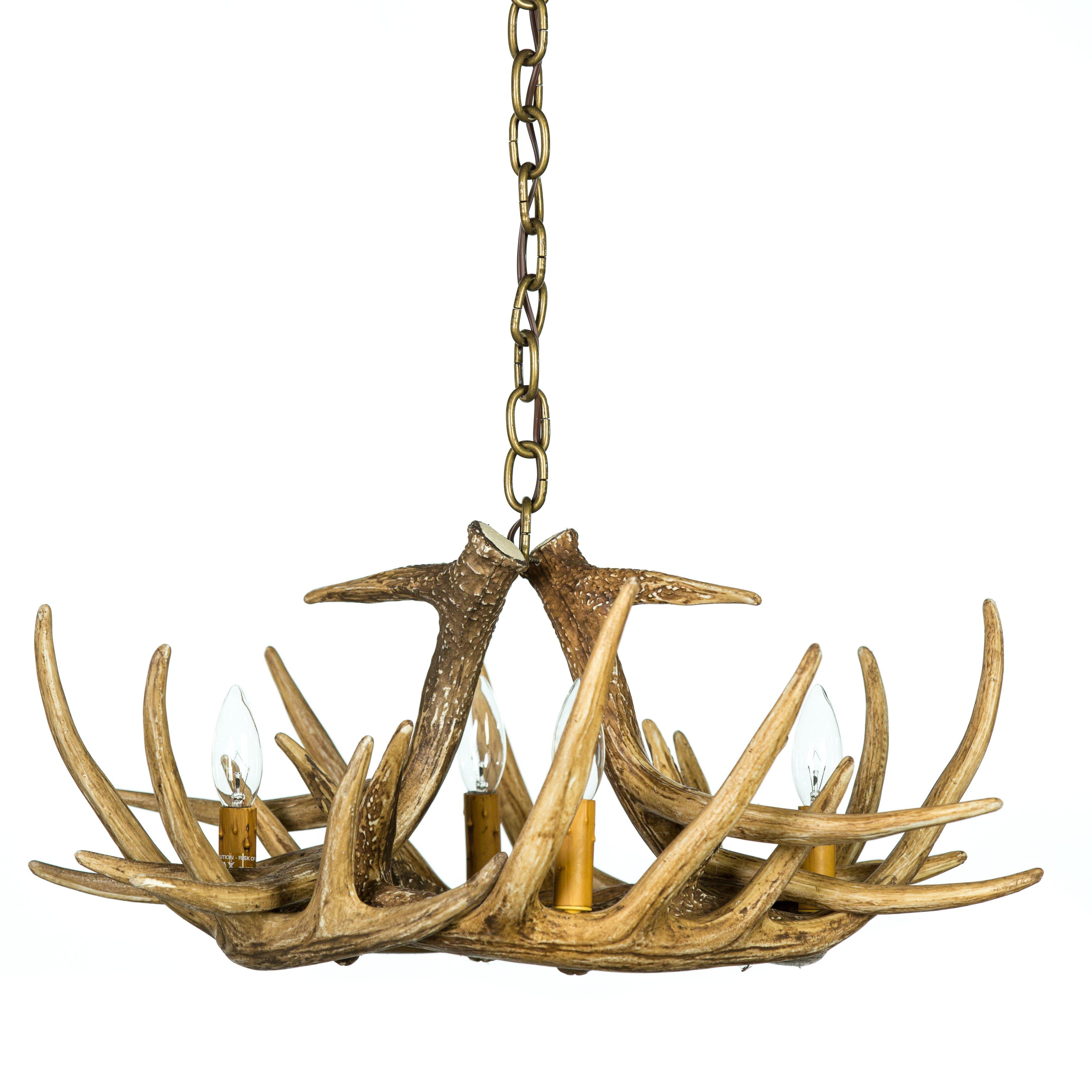Whitetail deer 6 antler chandelier cast horn designs aloadofball Images