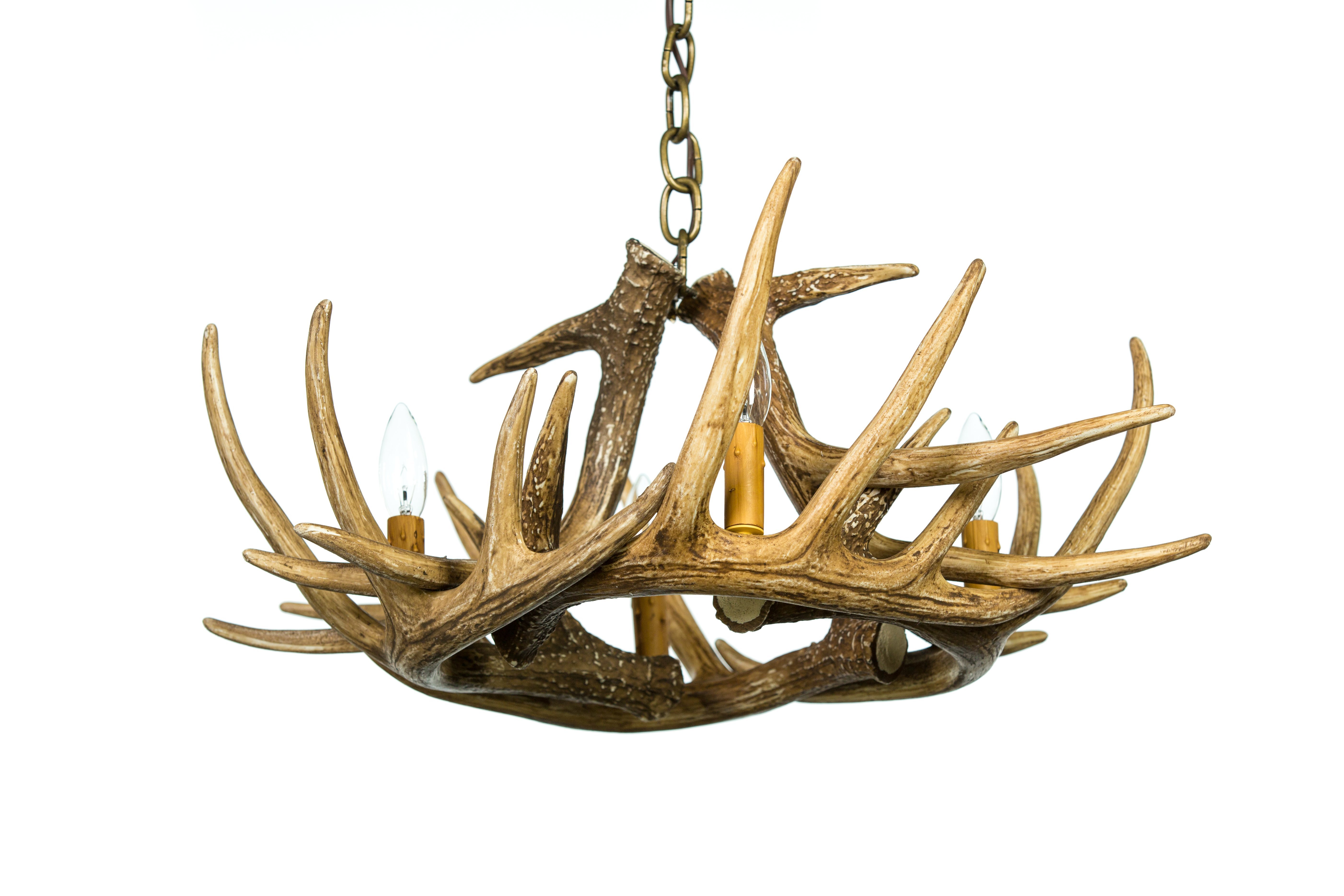 Whitetail deer 6 antler chandelier cast horn designs whitetail deer 6 antler chandelier arubaitofo Image collections