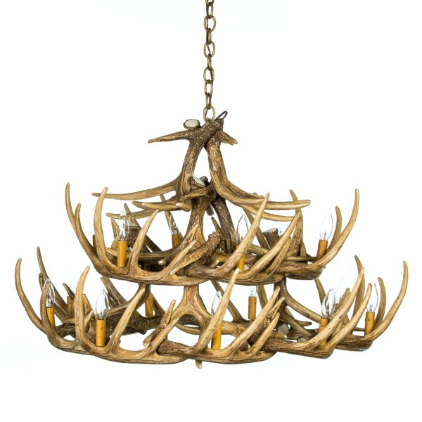 Whitetail Deer 24 Antler Chandelier