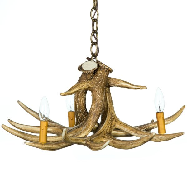 Whitetail Deer 3 Antler Cascade Chandelier