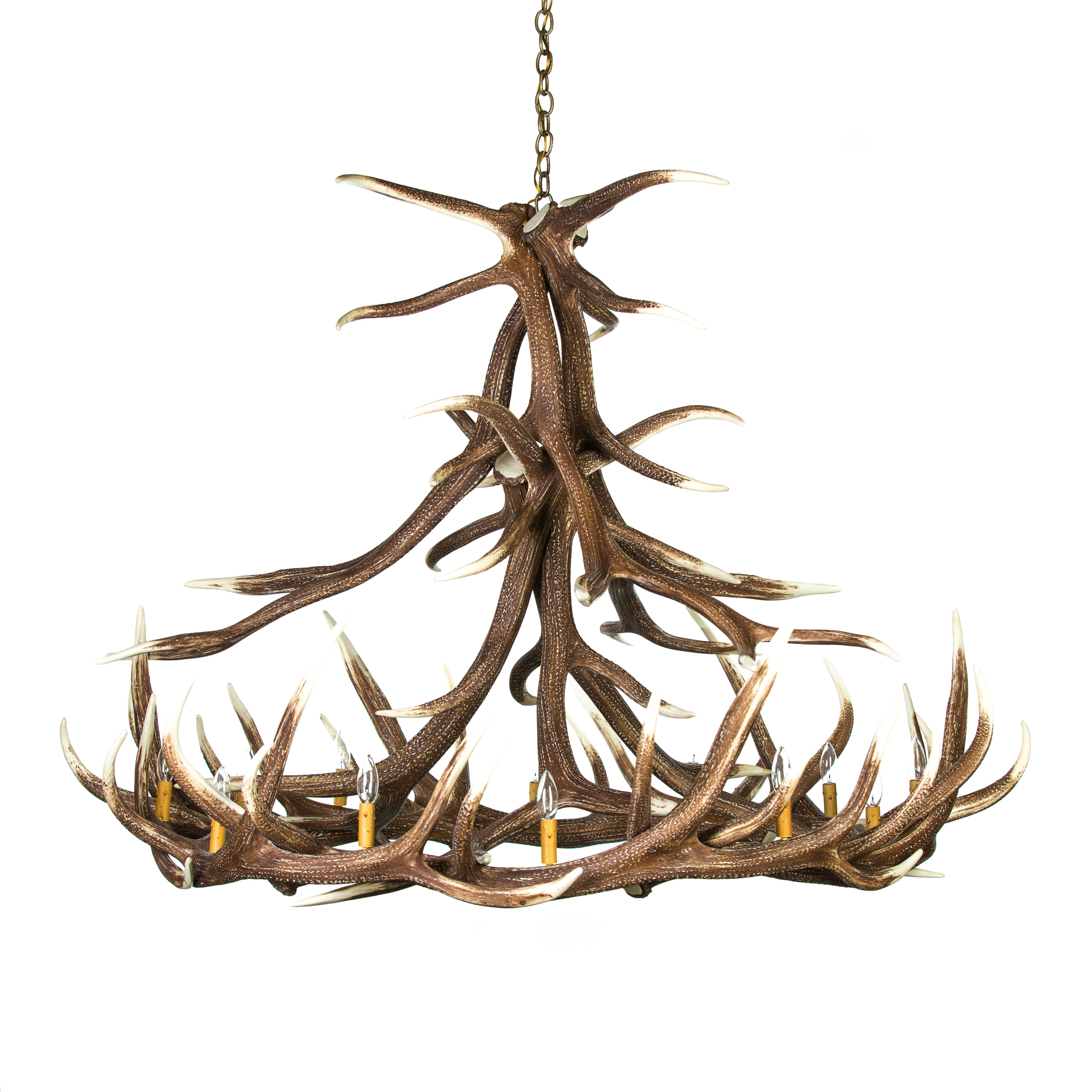 Elk 12 Antler Chandelier Cast Horn Designs