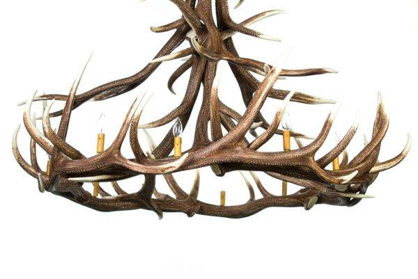 Elk 12 Antler Chandelier