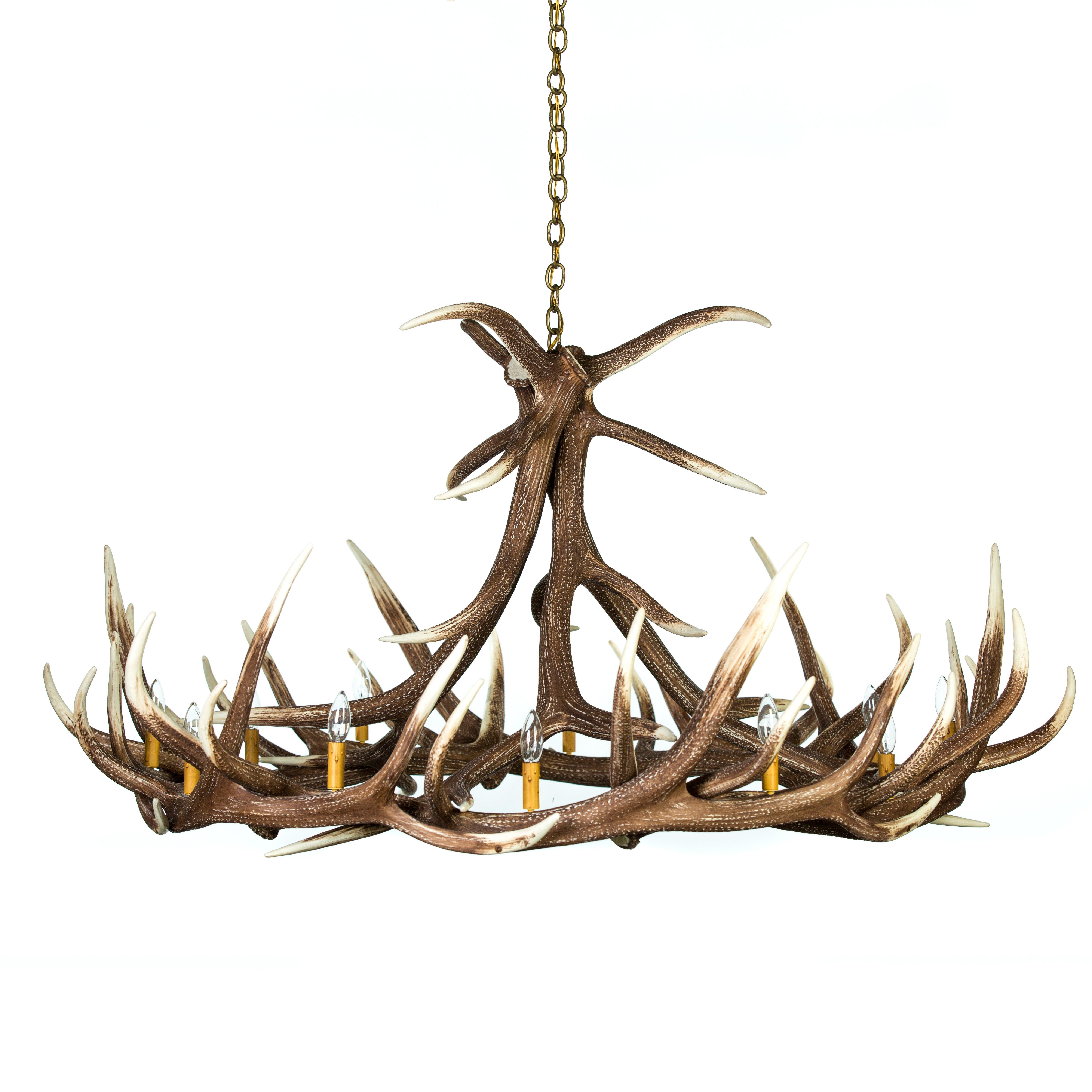 Elk 9 antler chandelier cast horn designs aloadofball Images