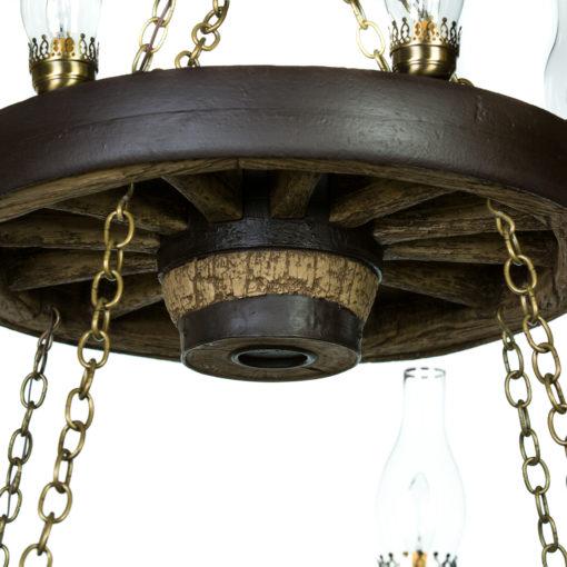 double wagon wheel chandelier - Wagon Wheel Chandelier