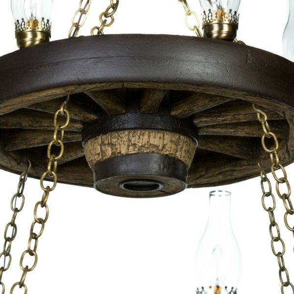 Double wagon wheel chandelier cast horn designs double wagon wheel chandelier mozeypictures Choice Image