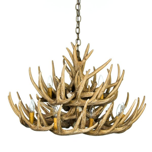Whitetail Deer 21 Antler Cascade Chandelier