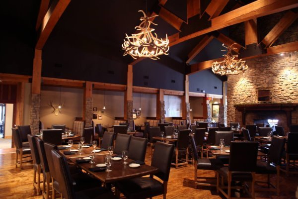 Elk 12 Antler Chandelier- Logan Steakhouse