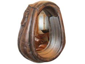 Rustic Bathroom Horse Mirror