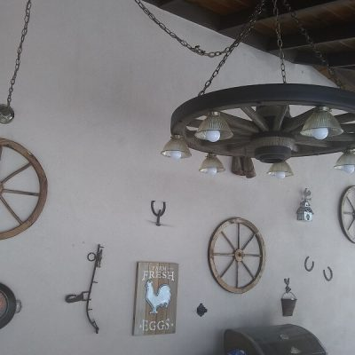 customer image large wagon wheel chandelier