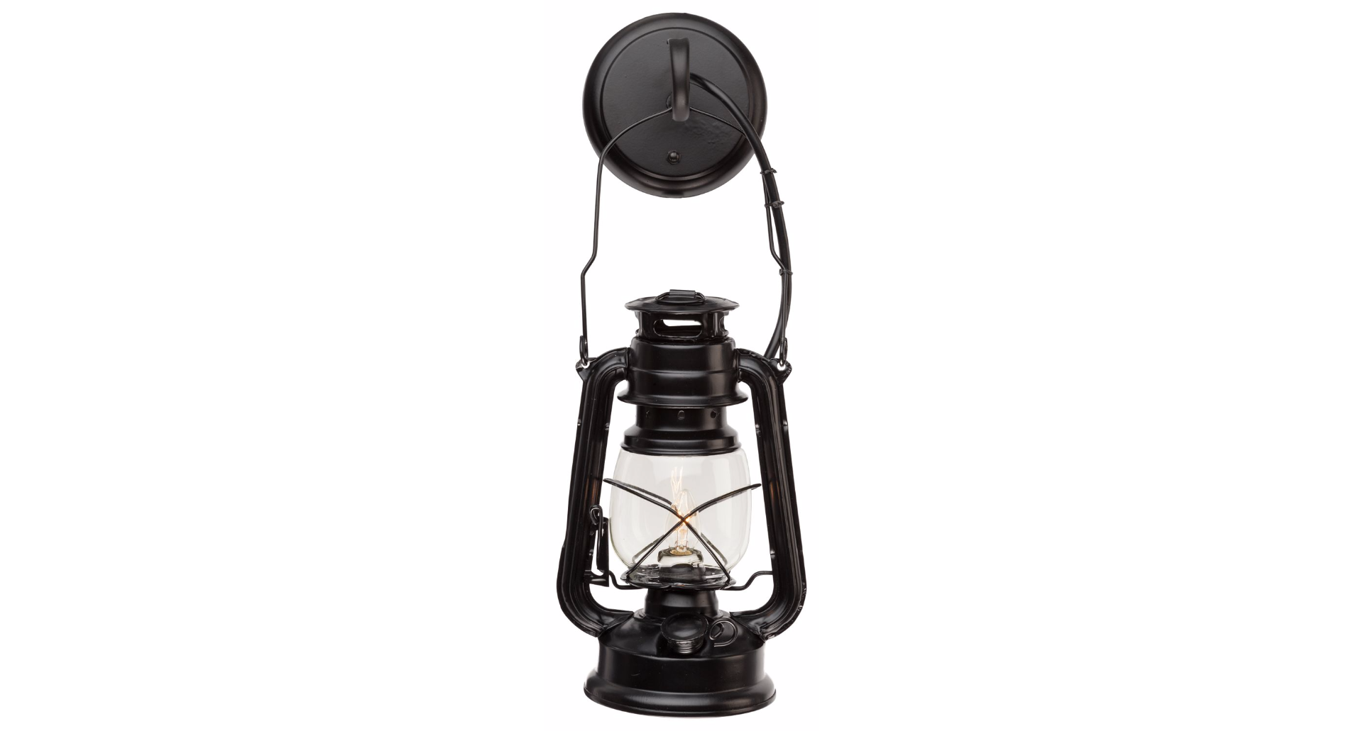 Small Black Lantern Wall Sconce