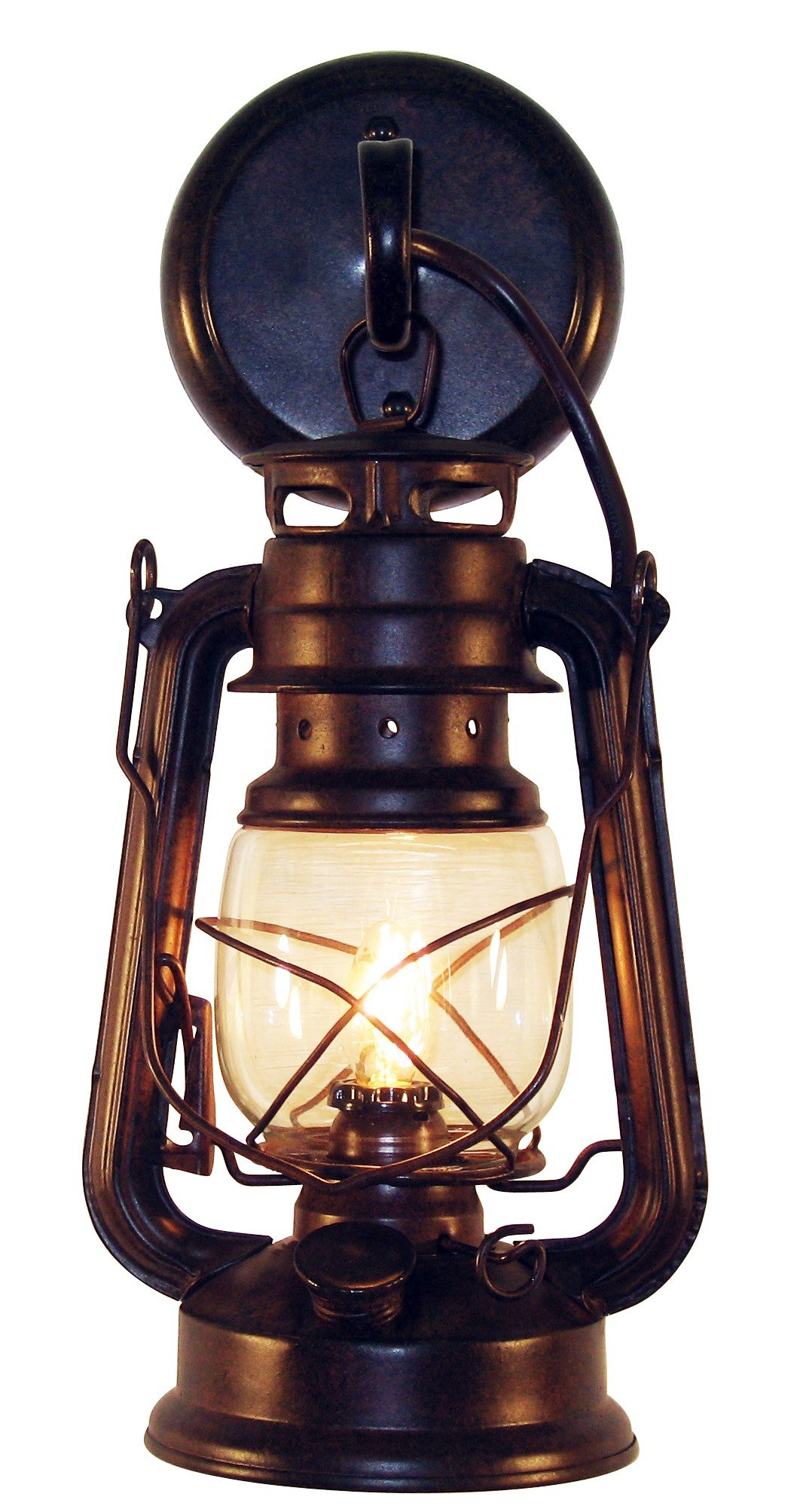 ... Small Rustic Lantern Wall Sconce