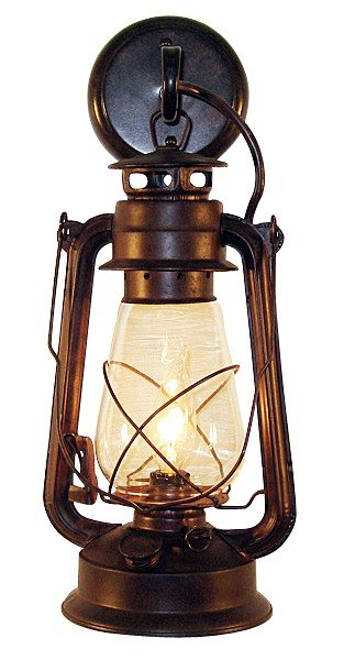 Chinese Lantern Wall Lights : Large Rustic Lantern Wall Sconce Cast Horn Designs