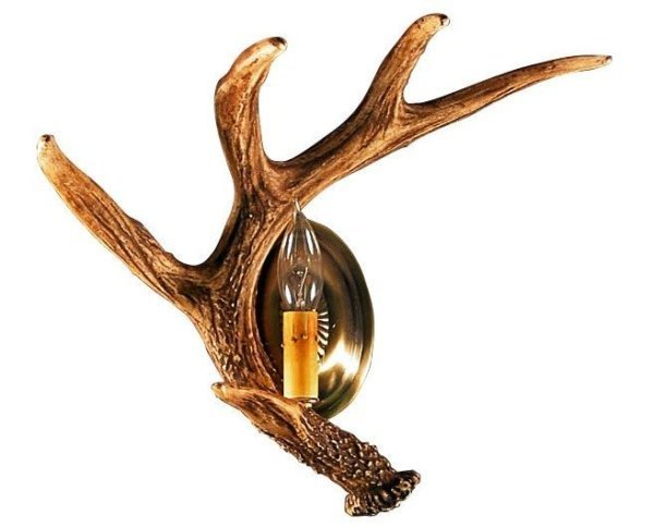 Whitetail Deer Left Antler Wall Sconce
