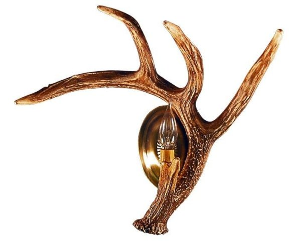 Whitetail Deer Right Antler Wall Sconce