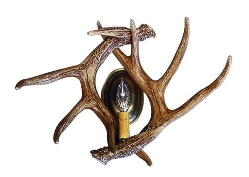 Whitetail Deer 2 Antler Wall Sconces
