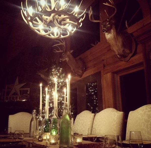 Whitetail Deer 12 Antler Cascade Chandelier