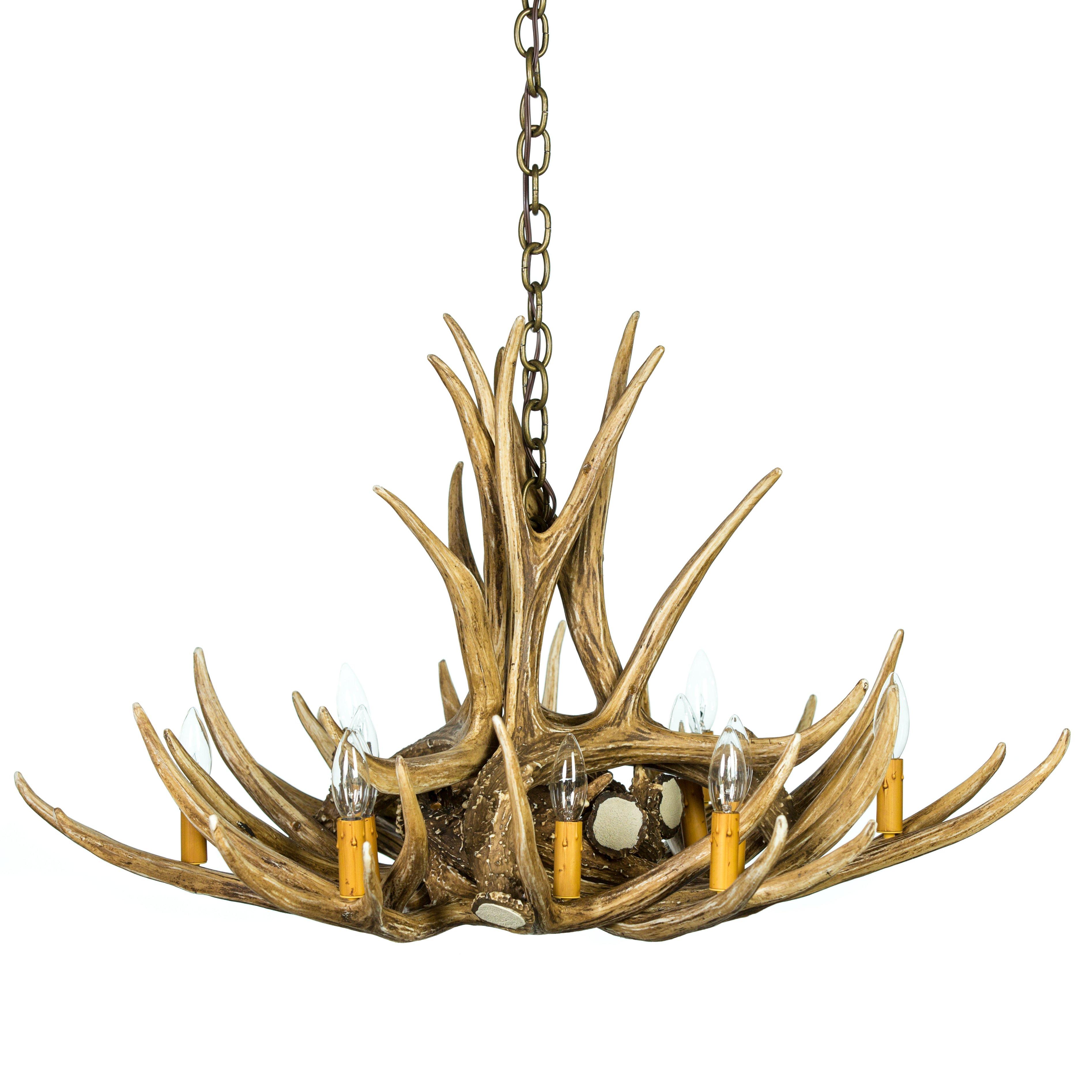 Mule deer 9 antler chandelier cast horn designs mule deer 9 antler chandelier aloadofball Choice Image