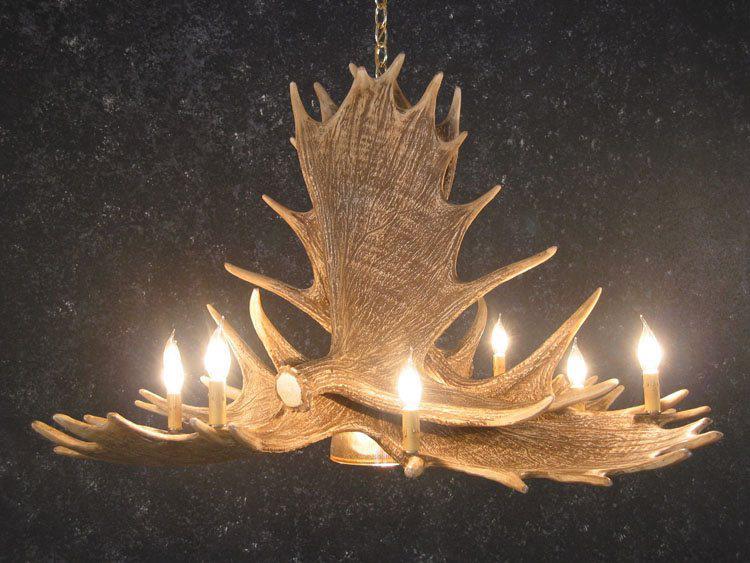 moose 6 antler chandelier cast horn designs. Black Bedroom Furniture Sets. Home Design Ideas