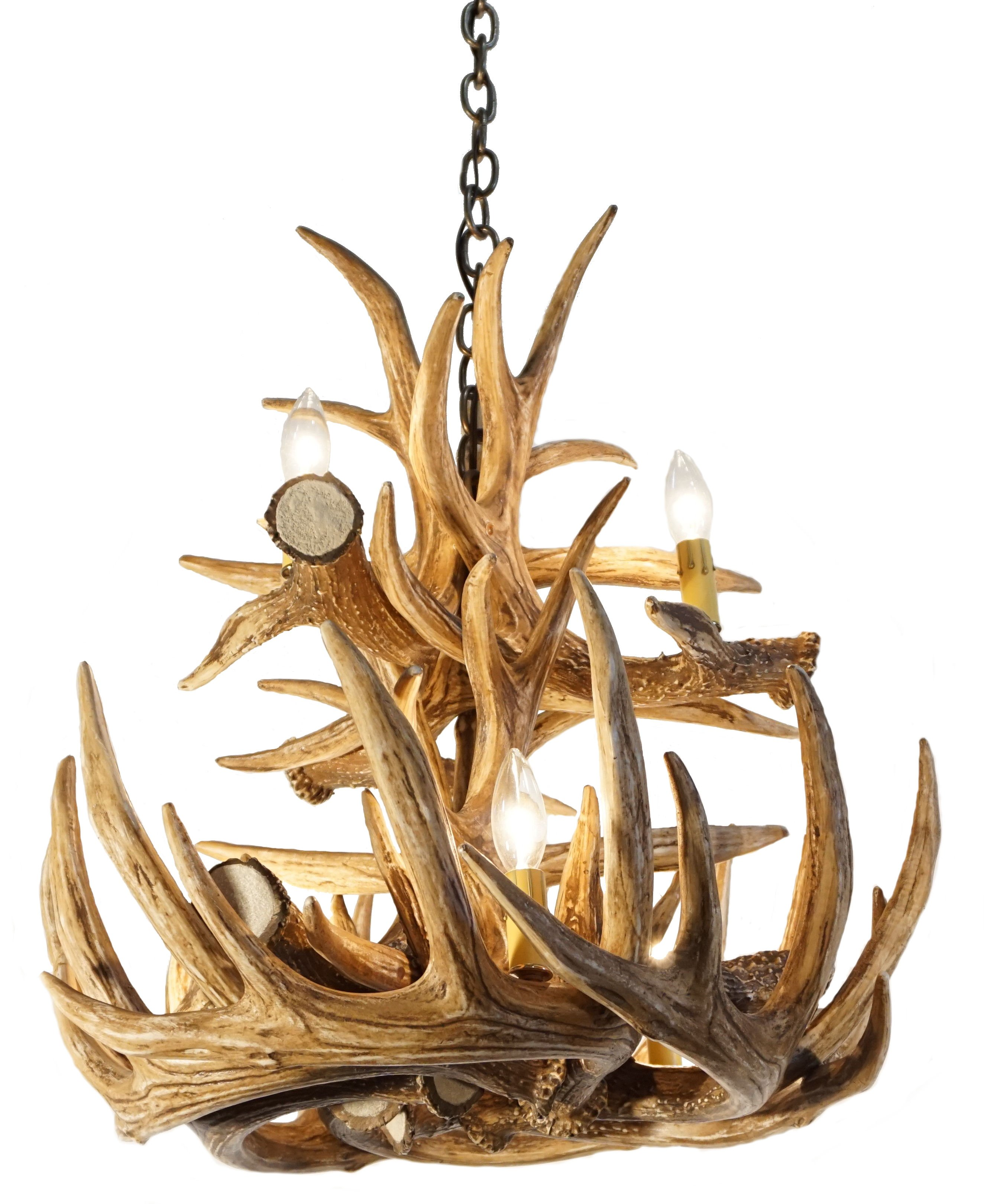 Whitetail deer 12 large antler chandelier cast horn designs whitetail deer 12 large antler chandelier aloadofball Image collections