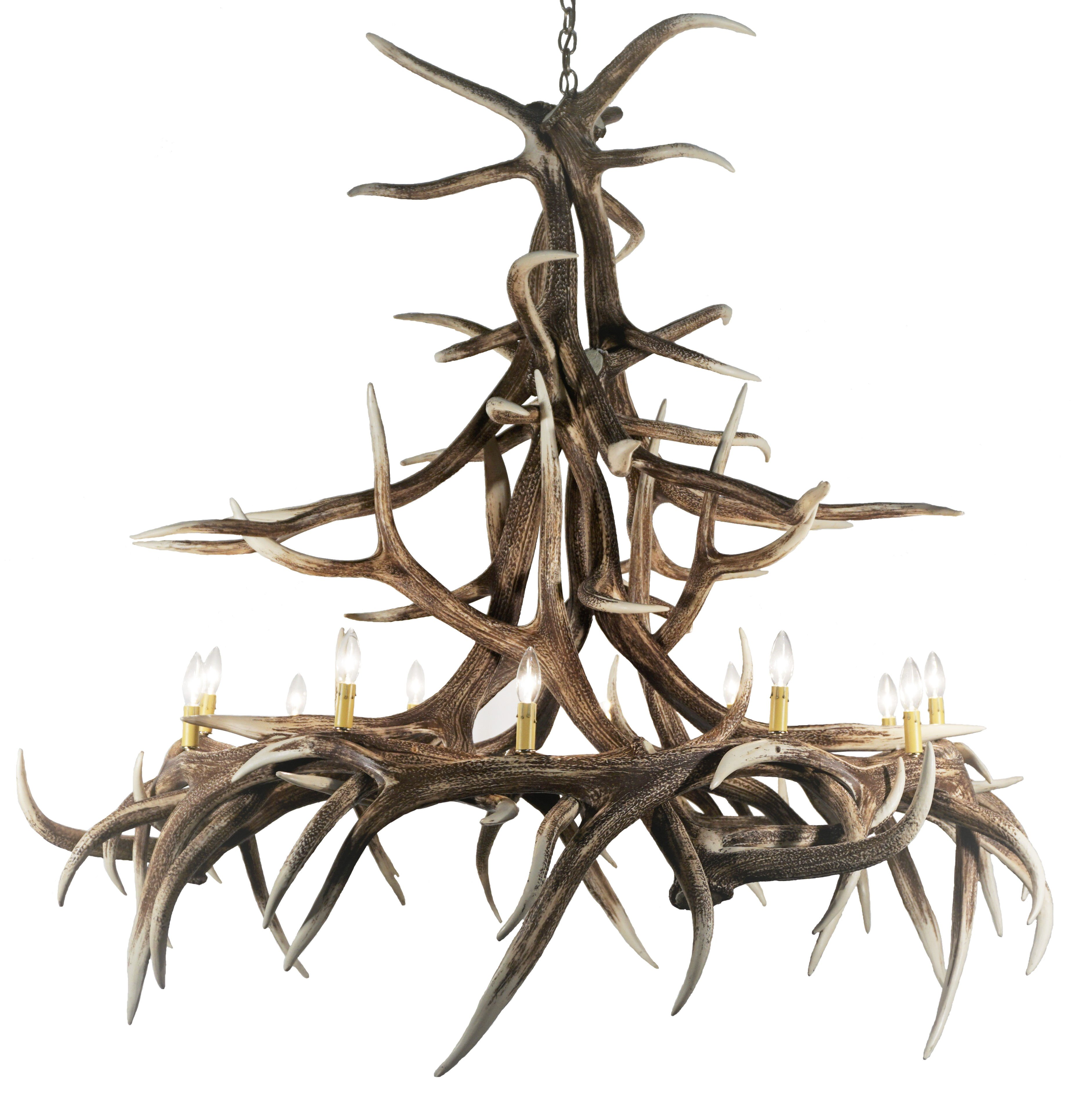 Elk Lighting Owner: Whitetail Deer 6 Antler Chandelier