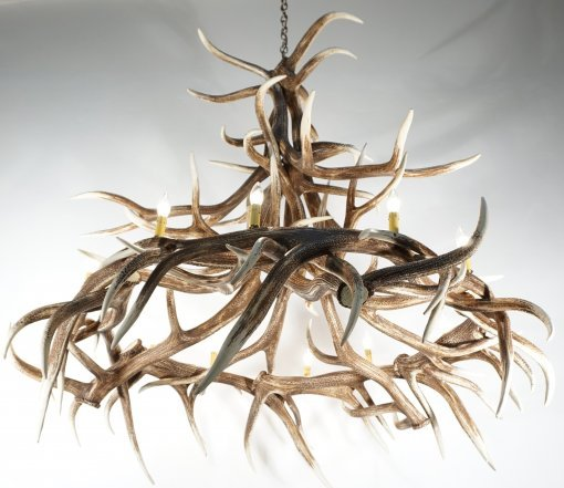 Elk Antler Cascading Chandelier