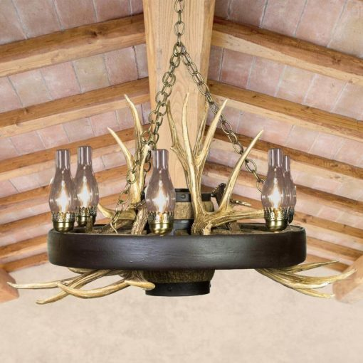 ... Antler Chandelier; Wagon Wheel Lighting ...