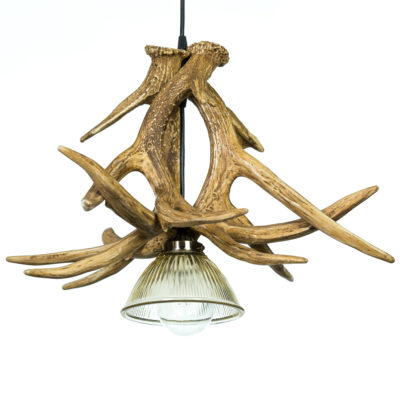 Whitetail Deer 3 Large Antler Pendant