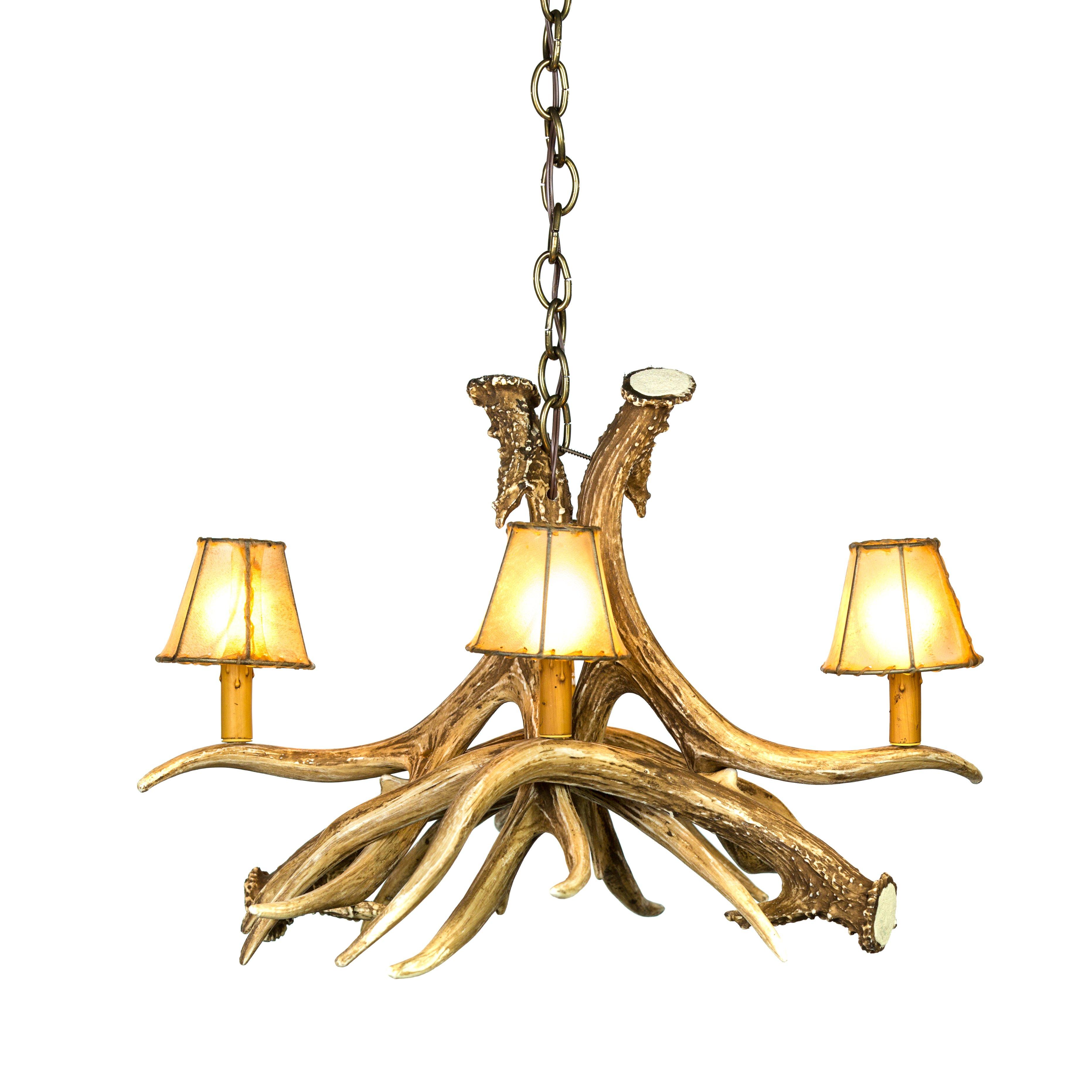 Mule deer 4 antler chandelier cast horn designs aloadofball Images