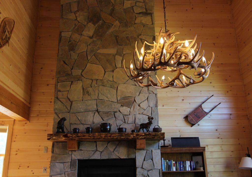Choosing the right antler chandelier cast horn designs antler chandelier in the great room aloadofball Images