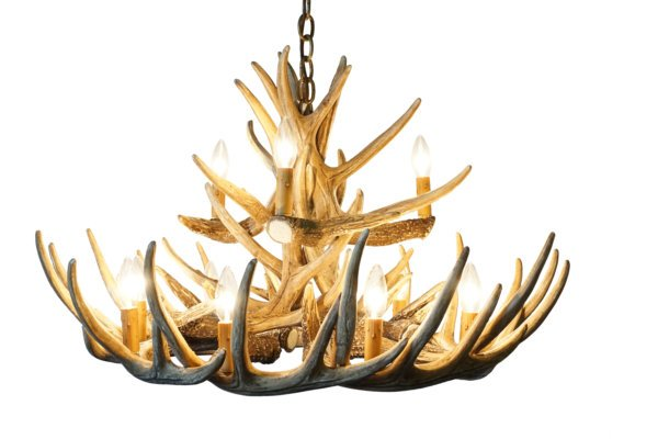 Whitetail deer 15 antler chandelier cast horn designs whitetail deer 15 antler chandelier aloadofball Choice Image