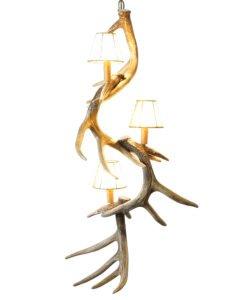 Whitetail Deer 4 Antler Spiral Pendant